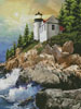 Bass Harbor Lighthouse Painting - Cross Stitch Chart