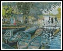 Bathers at La Grenouillere - Cross Stitch Chart