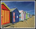 Bathing Boxes at Brighton Beach - Cross Stitch Chart