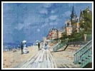 Beach at Trouville - Cross Stitch Chart