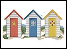 Beach Huts - Cross Stitch Chart