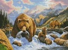 Bear and Cubs - Cross Stitch Chart
