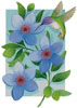 Beija Flor Blue - Cross Stitch Chart