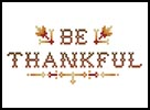 Be Thankful - Cross Stitch Chart
