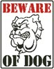Beware of Dog - Cross Stitch Chart