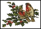 Birds and Holly - Cross Stitch Chart
