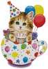 Birthday Kitty Cup - Cross Stitch Chart