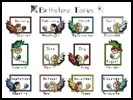 Birthstone Fairies Sampler - Cross Stitch Chart