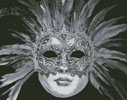 Black and White Mask - Cross Stitch Chart