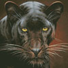 Black Panther Portrait (Crop) - Cross Stitch Chart