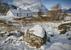 Black Rock Cottage in Winter - Cross Stitch Chart