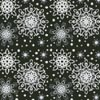 Black Snowflakes Cushion - Cross Stitch Chart