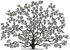 Black Tree Silhouette - Cross Stitch Chart