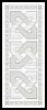 Blackwork Bookmark 1 - Cross Stitch Chart