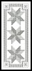 Blackwork Bookmark 4 - Cross Stitch Chart