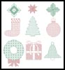 Blackwork Christmas Motifs - Cross Stitch Chart