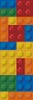Blocks Bookmark - Cross Stitch Chart