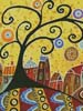 Blooming Village 1 (Crop) - Cross Stitch Chart