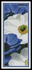 Blue and White Flowers Bookmark - Cross Stitch Chart