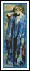 Blue and Yellow Bookmark - Cross Stitch Chart
