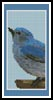 Blue Bird Bookmark - Cross Stitch Chart