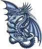 Blue Dragon - Cross Stitch Chart