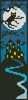 Blue Halloween Bookmark - Cross Stitch Chart
