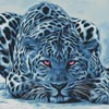 Blue Leopard - Cross Stitch Chart