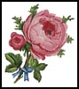 Blue Ribbon Rose - Cross Stitch Chart