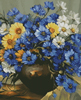 Bouquet of Blue (Crop) - Cross Stitch Chart