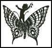 Boy Riding Butterfly - Cross Stitch Chart