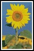 Bright Sunflower - Cross Stitch Chart