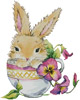 Bunny Cup - Cross Stitch Chart