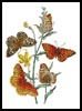 Aphrodite and other Butterflies on Viola - Cross Stitch Chart