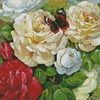 Butterfly and Roses (Crop) - Cross Stitch Chart