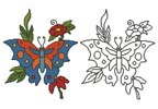 Butterfly Flowers - Cross Stitch Chart