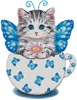 Butterfly Kitty Cup - Cross Stitch Chart