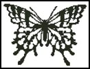 Butterfly Silhouette - Cross Stitch Chart