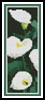 Calla Lillies Bookmark - Cross Stitch Chart
