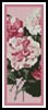 Camelias 4 Bookmark - Cross Stitch Chart