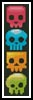 Candy Skulls Bookmark - Cross Stitch Chart