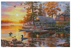 Canoe Camp Buffalo (Large) - Cross Stitch Chart