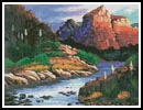 Canyon Painting - Cross Stitch Chart