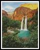 Canyon Waterfall - Cross Stitch Chart