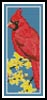 Cardinal Bookmark - Cross Stitch Chart