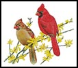 Cardinals - Cross Stitch Chart