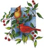 Colourful Cardinals - Cross Stitch Chart