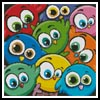 Cartoon Birds Cushion - Cross Stitch Chart
