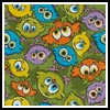 Cartoon Birds Cushion 2 - Cross Stitch Chart