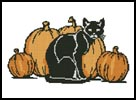 Cat and Pumpkins - Cross Stitch Chart